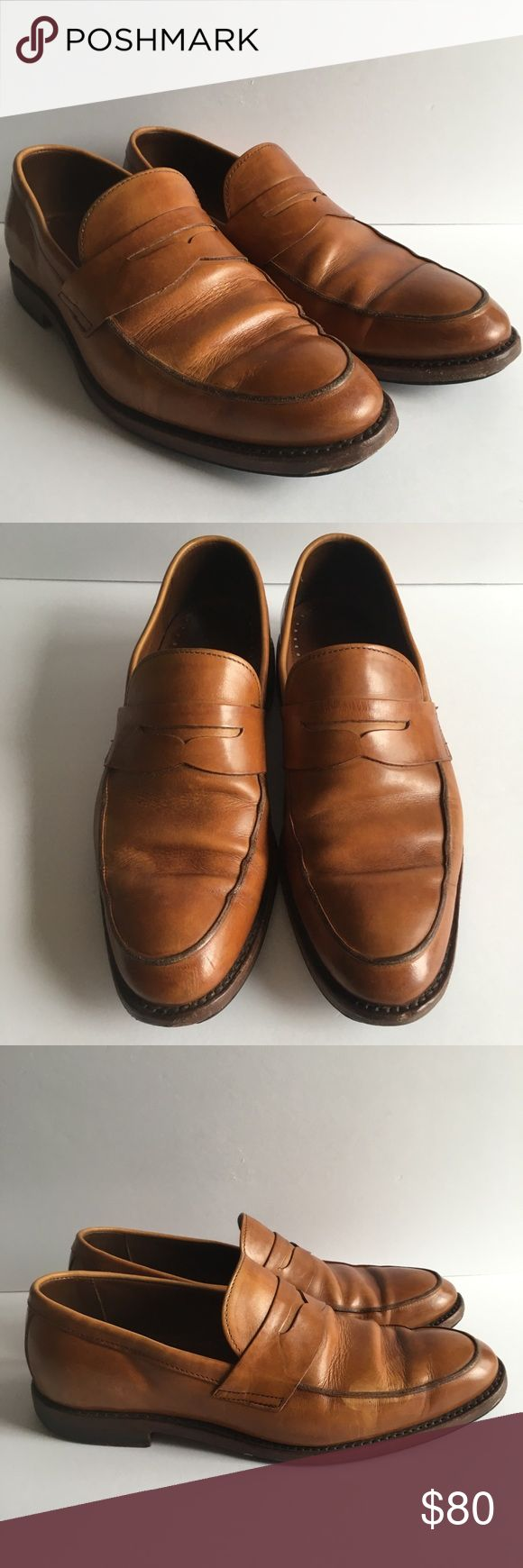 """Brooks Brothers Loafer Slips On Mens Shoes Size 10 This listing is for a pair of men's Brooks Brothers light brown/tan loafer slip on shoes. They are not marked with a size, however they are consistent with a men's size 10. They measure 10.75 inches from toe to heel on the interior of the shoe and the exterior sole measures 11.75"""" Brooks Brothers Shoes Loafers & Slip-Ons"""