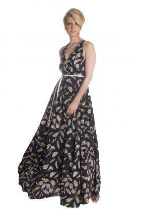 Moutaki φόρεμα μάξι floral