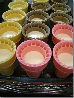 Bake the cupcakes in ice cream cones! Neat!
