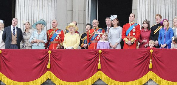 """Queen Elizabeth II Photo - Queen Elizabeth II and Duke of Edinburgh at the """"Trooping the Colour"""" birthday celebrations in London with aerial perfomance"""