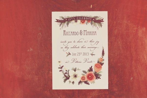 handdrawn wedding invite // photo by Aljosa Videtic