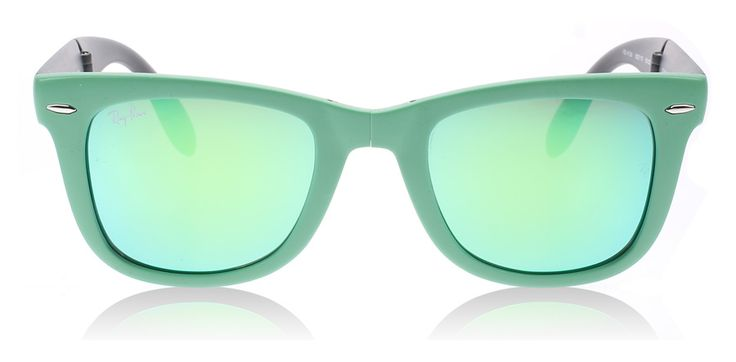 Ray-Ban 4105 Folding Wayfarer Sunglasses : 4105 Folding Wayfarer Matte Green 602119 : UK