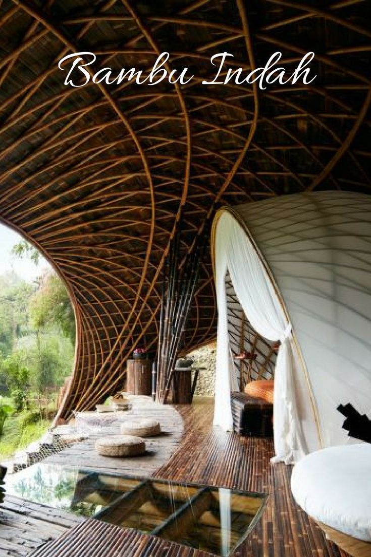 Built almost entirely out of bamboo, this is one of the world's most sustainable and spiritual hotels.