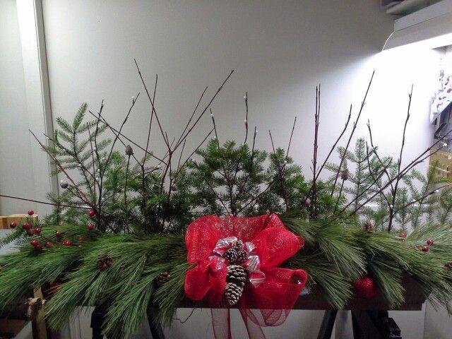 Boîtes à fleurs de Noël