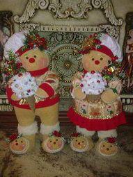Pareja de galletas navideñas