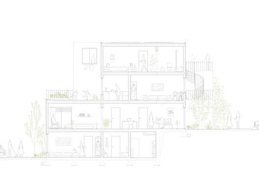 Competição Habitação Social de Alvenaria,corte