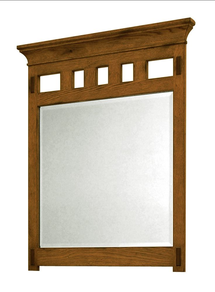 Features:  -American Craftsman collection.  -Framed beveled glass portrait mirror.  -Material: Oak solids.  -Finish: Hand-applied rich amber ( lightly distressed).  -Beautiful arts and crafts style wi
