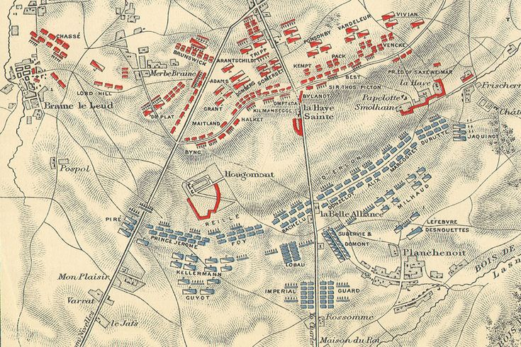 The Battle of Waterloo - Battle Lines