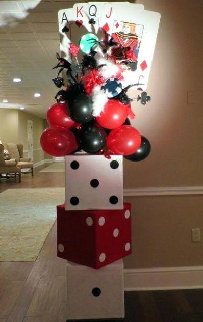 casino themed centerpieces ideas clever casino themed birthday rh pinterest com  casino party decor ideas planning