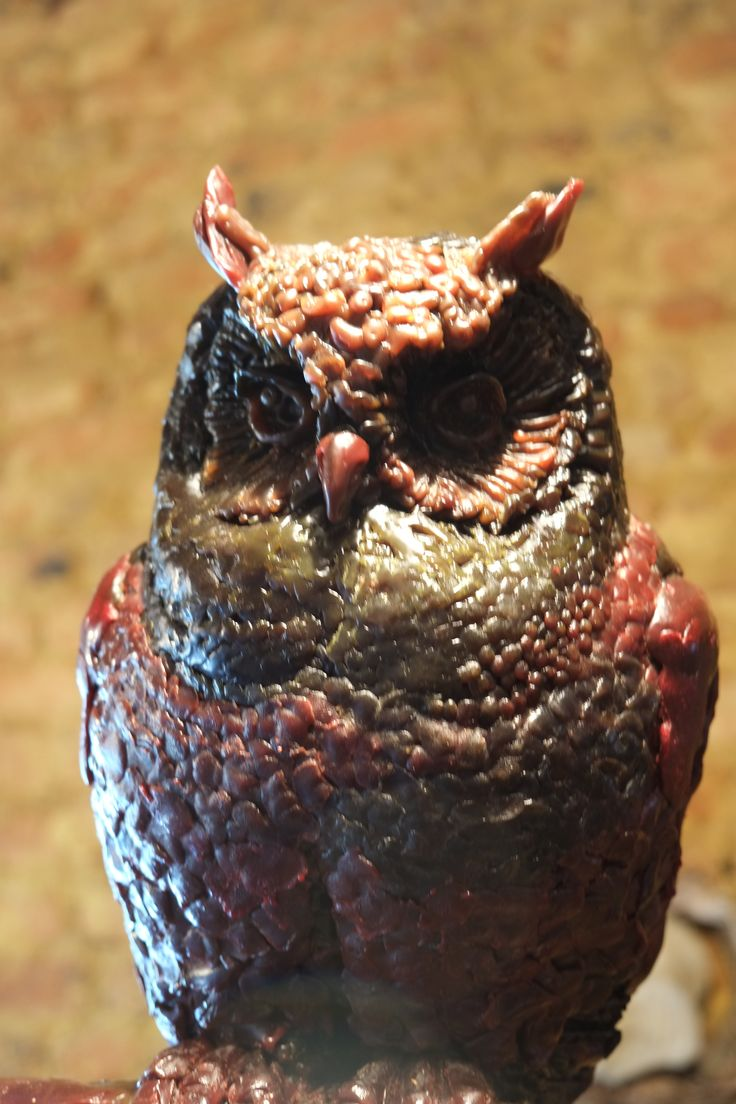 """Owl from my new """"Owl on Infinity"""" in wax for bronze Ed: /8"""