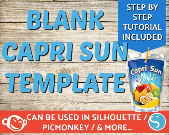 Blank Capri Sun Labels Template Capri Sun Labels Silhouette Picmonkey Custom Capri Sun Labels Juice Labels Pouch Labels Png Templets Label Templates Templates Printable Free Labels Printables Free Templates