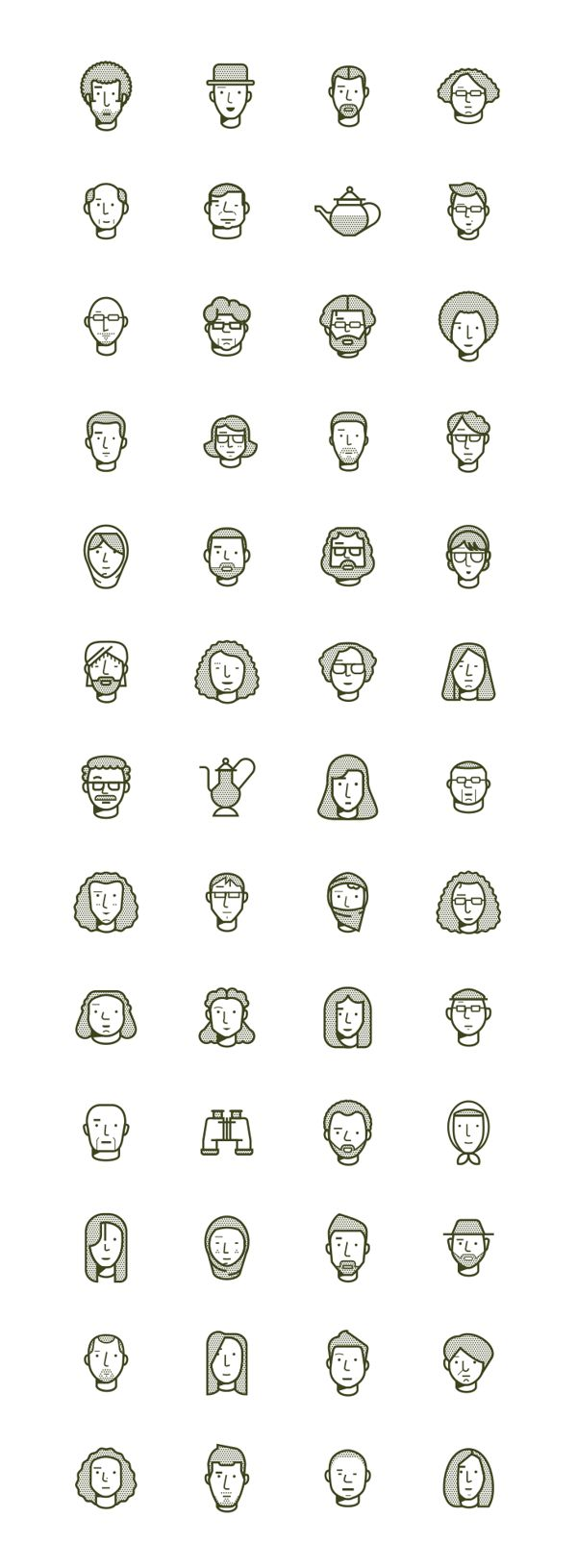 cute icons: The Outpost / issue 2 by Romualdo Faura, via Behance