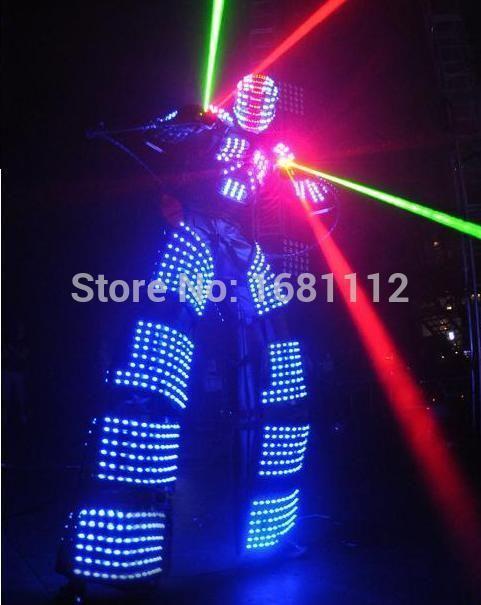 led robot Costume / LED Clothing suits / LED Costume /  led Lights Costume