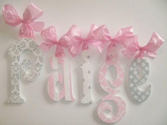 Wood Wall Letters   Kids  Nursery Decor   GLITTER And SPARKLE On Etsy,  $15.50