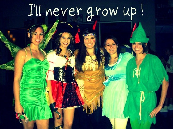 group costume idea we all loved peter pan - Halloween Group Costume Themes