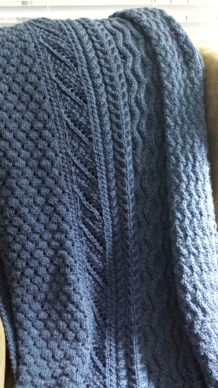Emily's cable and lace afghan