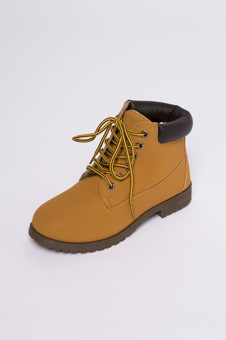 Girls Suede Laceup Work Boot