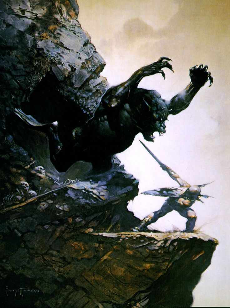 "Frank Frazetta - Cave Demon - Funky Fantasy Art - Funk Gumbo Radio: http://www.live365.com/stations/sirhobson and ""Like"" us at: https://www.facebook.com/FUNKGUMBORADIO"