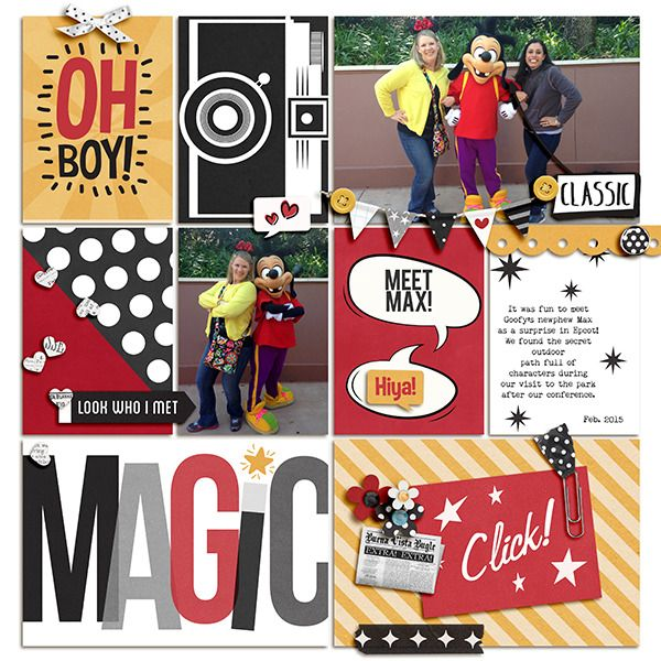Disney Magic digital project life page using Project Mouse: Classic by Britt-ish Designs and Sahlin Studio