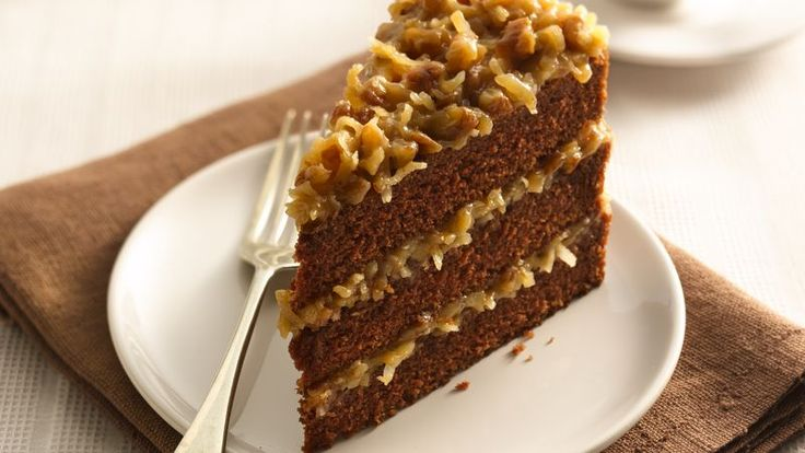 German Chocolate Cake: Substitute gluten free flour, coconut sugar, coconut milk w/ 1 T vinegar, regular baking chocolate, and slightly hardened coconut oil. Add 1/2 t g.f. dough conditioner if you have some.