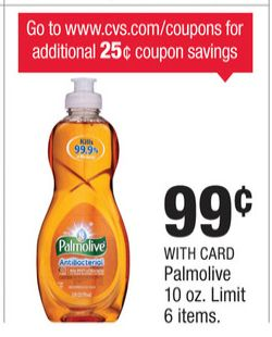 $0.35/1 Palmolive Coupon - Get Palmolive Dish Soap for ONLY $0.64 at CVS!