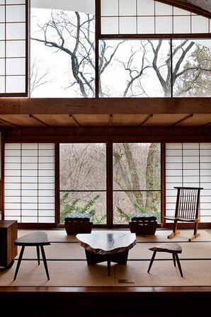 casa de mira nakashima, new hope, estados unidos | projeto: george e mira nakashima
