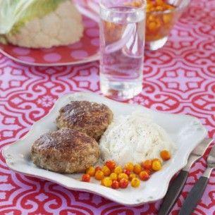 Wallenbergare med blomkålsmos - Recept från Mitt kök - Mitt Kök