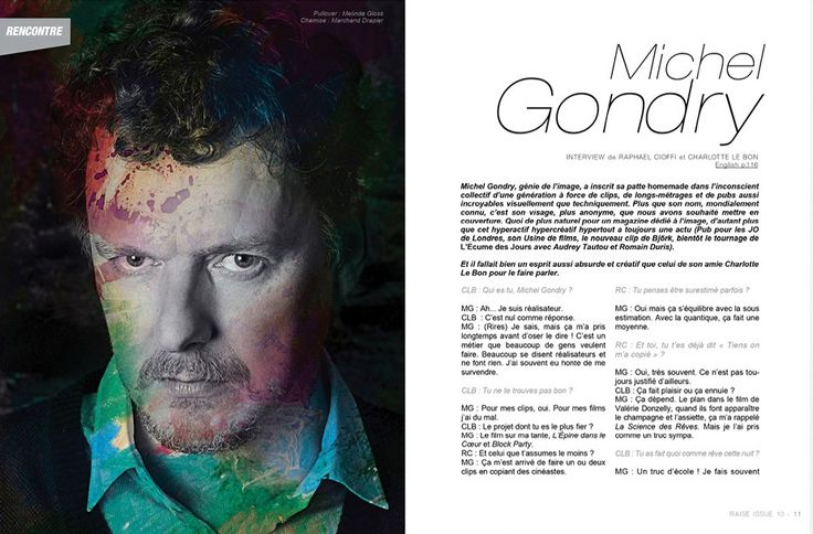 Raise Magazine Issue #10 TENPORAL ISSUE with Michel Gondry  #MichelGondry