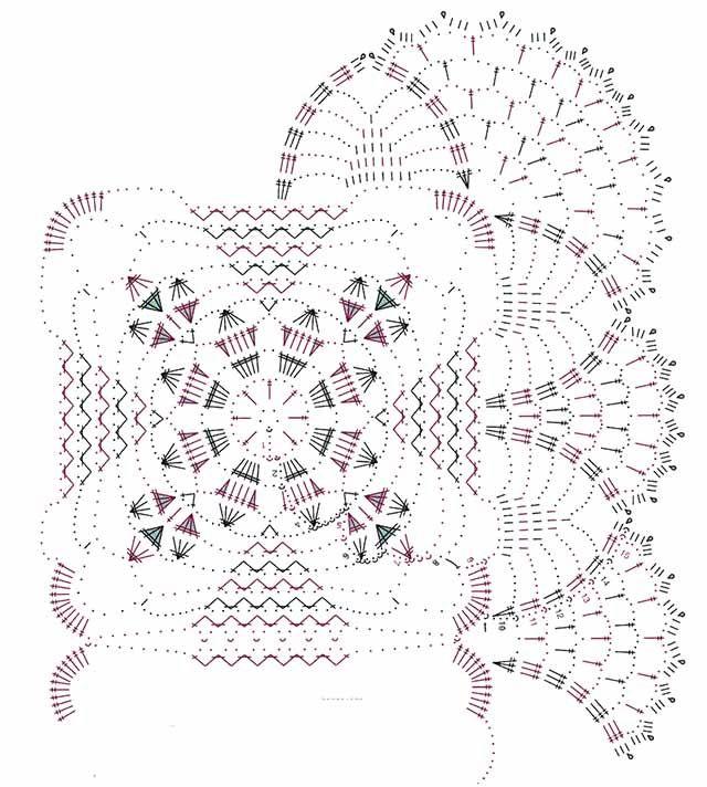 motivos cuadrados para crochet. régimen | El confort y la calidez de mi casa
