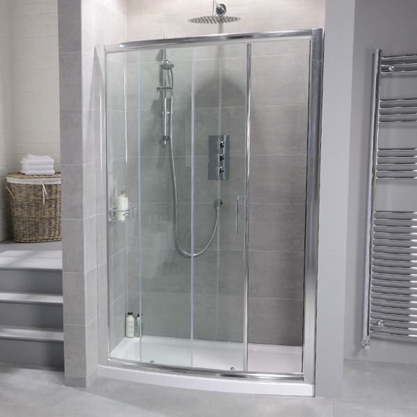 Aquafloe 1200mm Bow Front Recess Enclosure with Shower