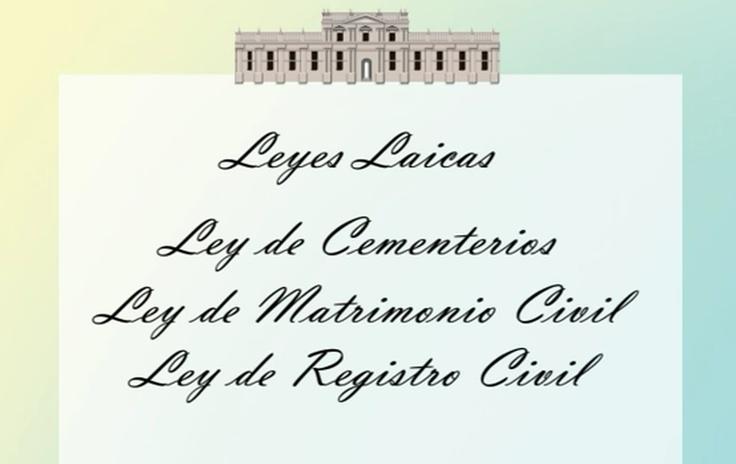 Laws enacted in the nineteenth century / Leyes promulgadas en el Siglo XIX