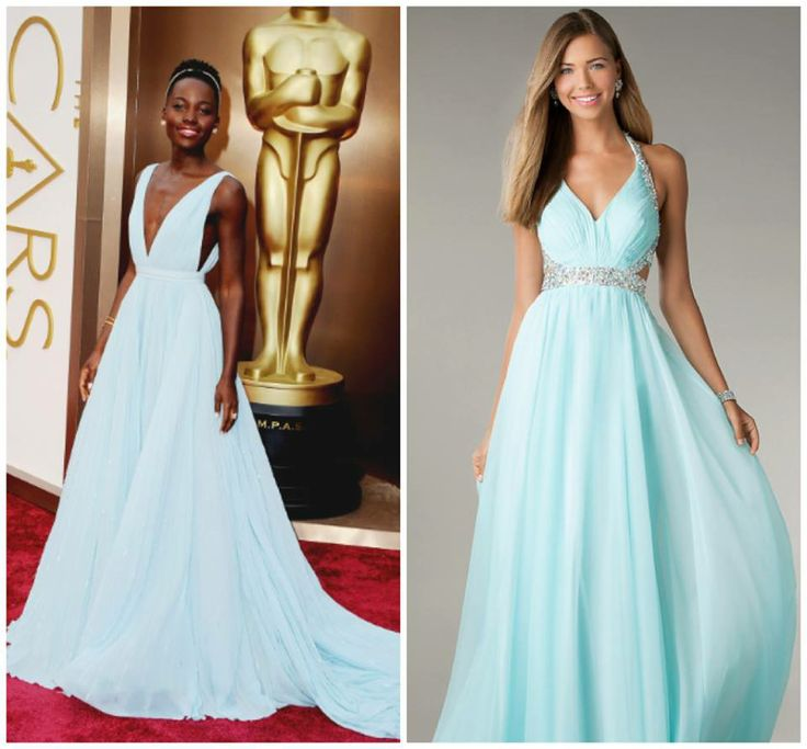 Obsessed with Lupita's CLASSIC look at the #oscars! #style   Steal her style in http://www.promgirl.com/shop/dresses/viewitem-PD1205712