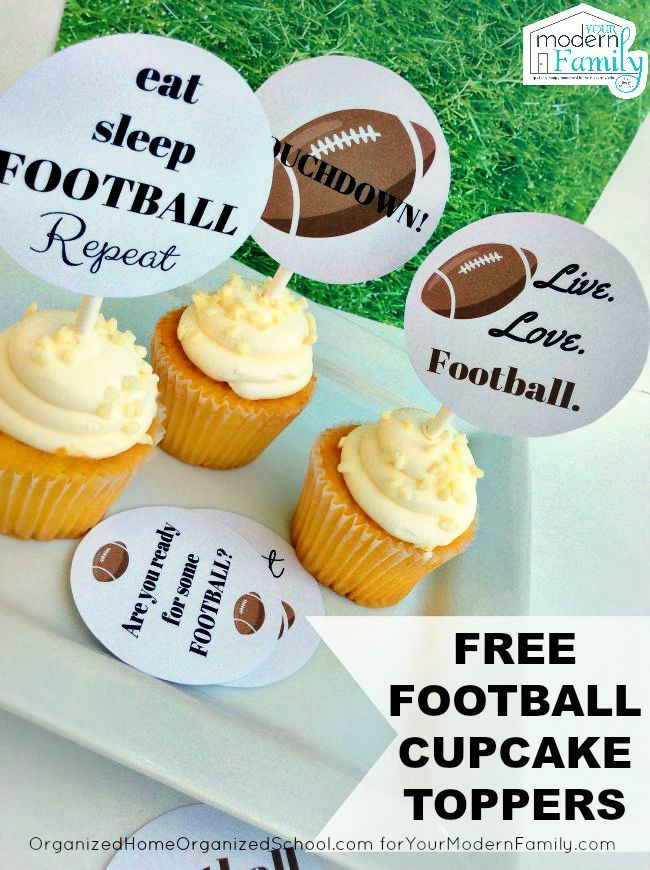I Love These Free Football Cupcake Toppers Get Them Here For Free To Use At Your Next Party