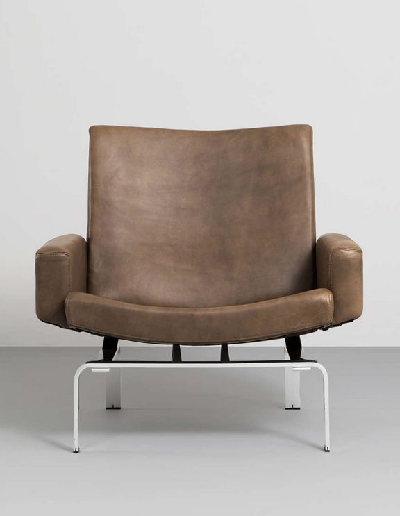 Jørgen Høj; Leather And Aluminum Lounge Chair, 1960s. Awesome Ideas