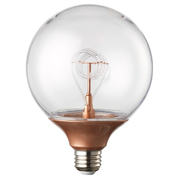 NITTIO LED bulb E26, globe copper color  http://www.justleds.co.za