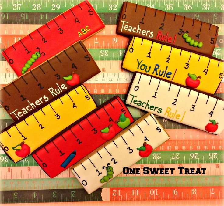 School cookies - Rulers. www.OneSweetTreat.com