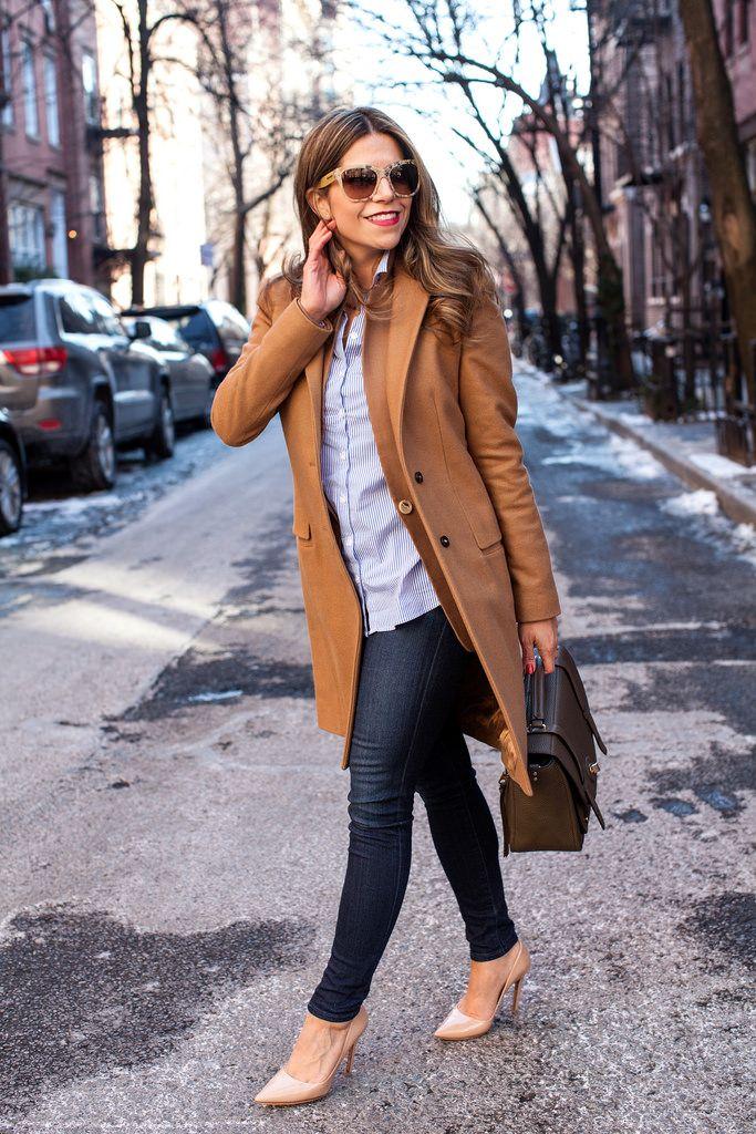 ロングコートを合わせてかっちりと♡ アラフォー(40代)女性向けのスリムデニムコーデまとめ。レディースファッションの参考に☆