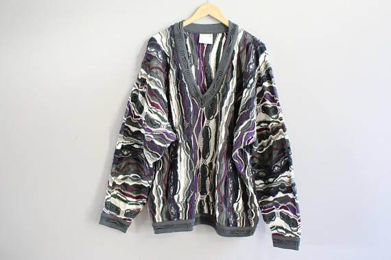 Authentic COOGI Australia Sweater XL Cotton Rare Long Sleeve V