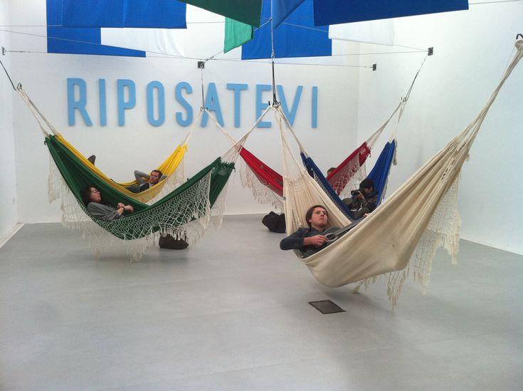 Brazilian Pavilion foto di Philip Fimmanò 'Le stesse persone che riposano nelle amache possono, se necessario, costruire una nuova capitale in tre anni' (Lucio Costa)