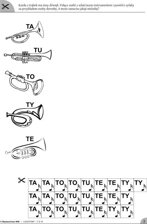 LOGOTOMY z głoskami t, d, n. Ćwiczenia logopedyczne Sklep internetowy Wydawnictwa WiR