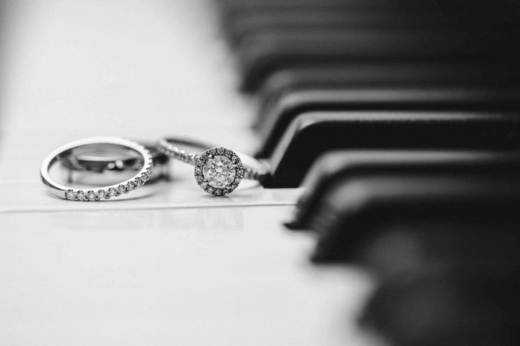 Wedding rings on the piano keys at Reid Rooms Wedding Ceremony Room by Anesta Broad Photography