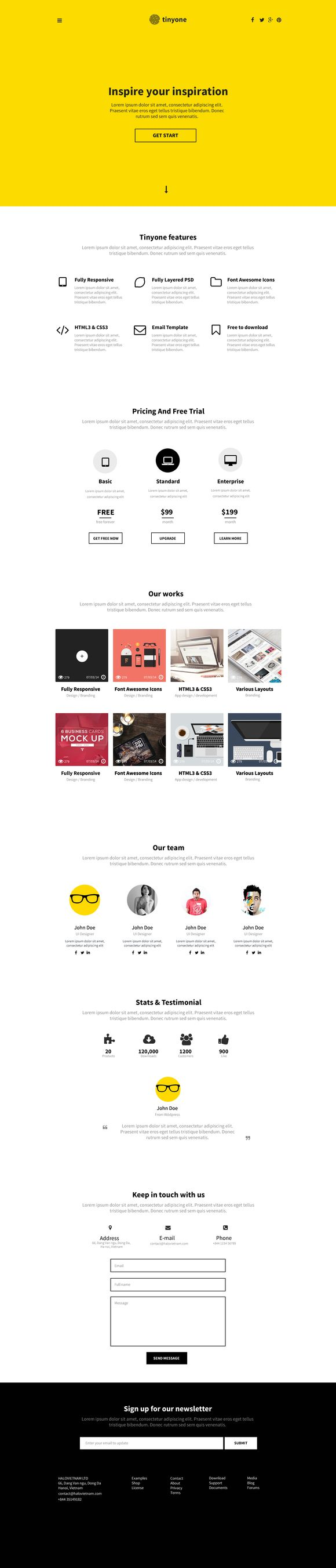 Check out Tinyone Onepage Template (PSD+HTML) by 3str on Creative Market