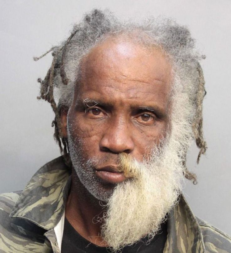 Man with pretty awesome half beard arrested for 'possessing marijuana'