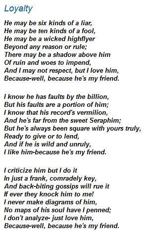 Loyalty By Berton Braley Poems Pinterest Loyalty
