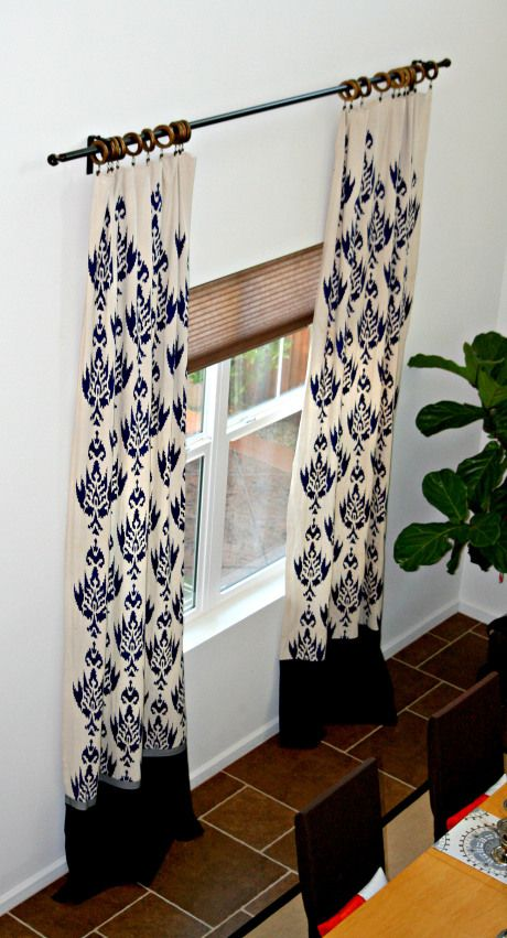 DIY Stenciled Curtains Made From Drop Cloths - gorgeous!