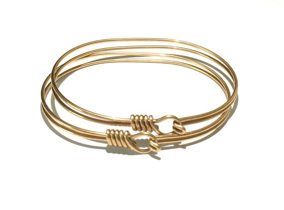 1 Brass Bracelet Wire Bracelet Bangle
