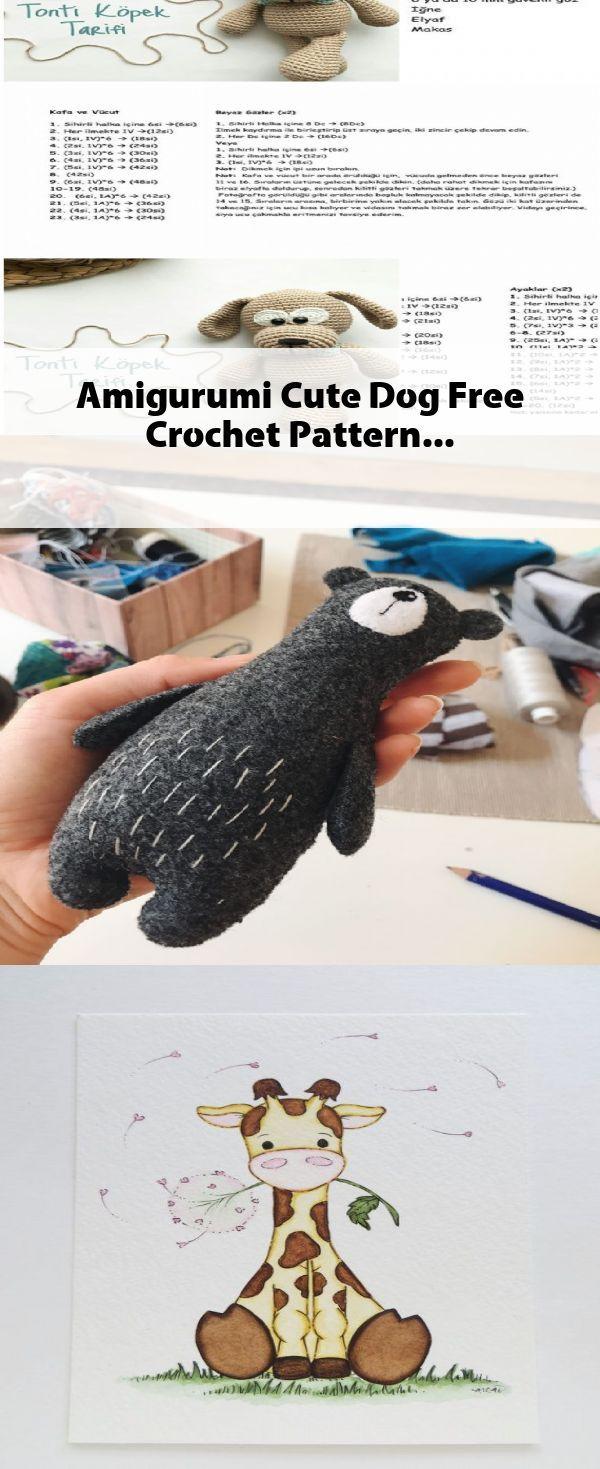 Amigurumi Cute Dog Free Crochet Pattern Niedlich Niedliche