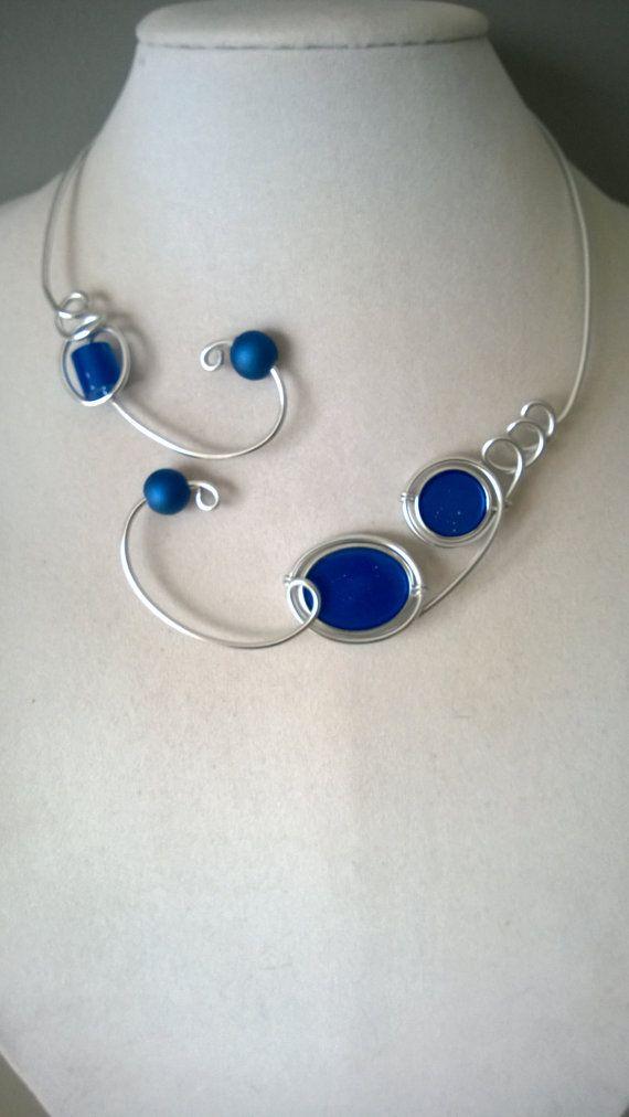 Royal blue jewelry Unique jewelry Collier by LesBijouxLibellule