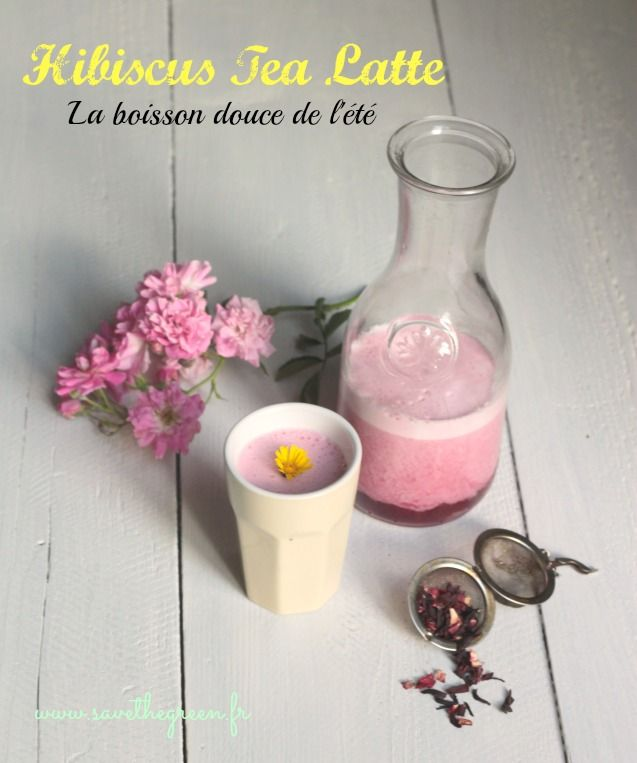 Hibiscus tea latte : Le thé frappé à l'hibiscus. Si vous avez envie d'arrêter le café ou le thé noir, testez l'infusion d'hibiscus, une boisson tonifiante !
