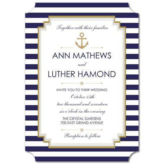 #wedding invitations  Nautical Style Wedding Invitations